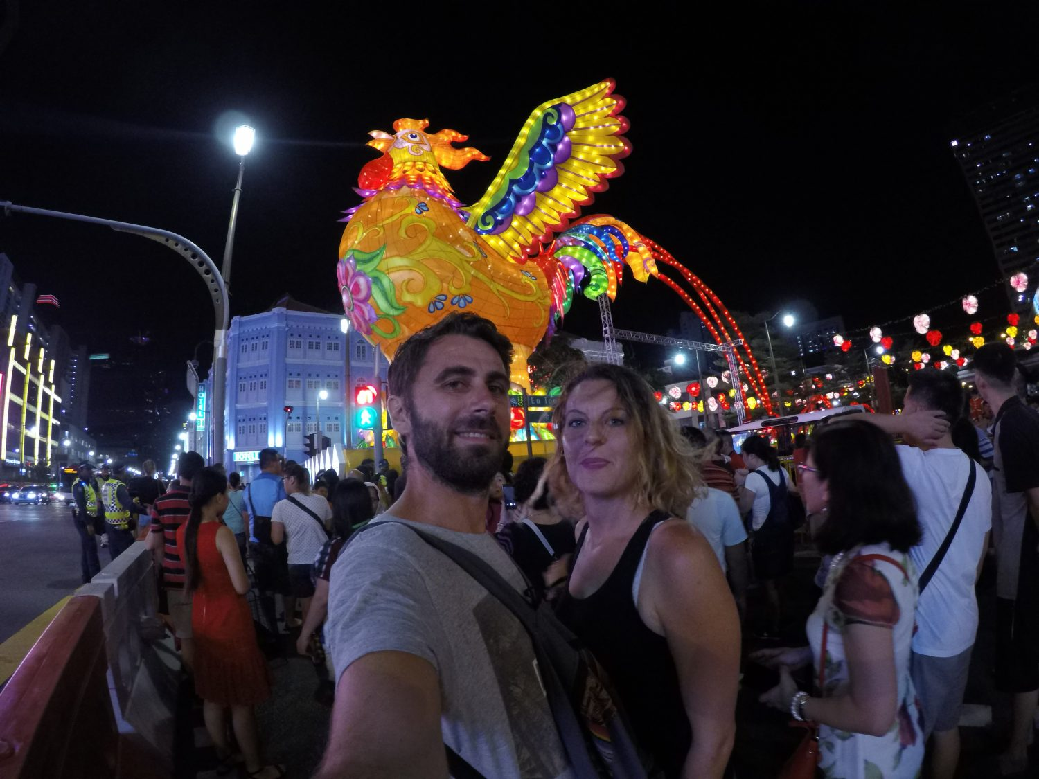 Selfie Singapour Nouvel an chinois