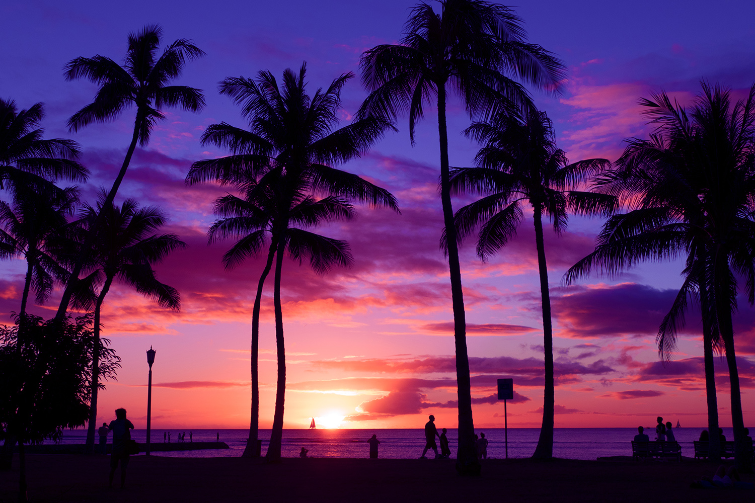 Sunset Waikiki Hawaii